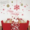 Happy Holidays Snow Flakes wall decal