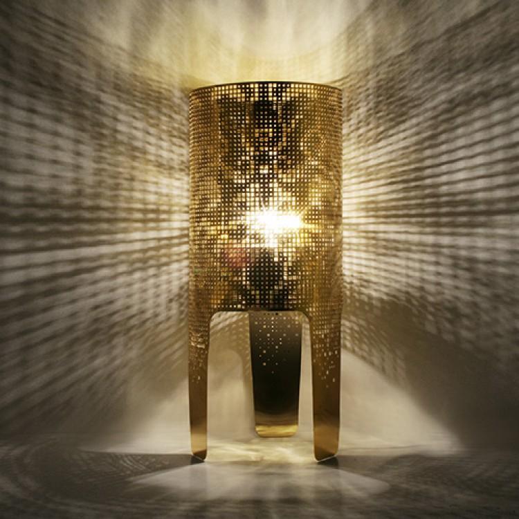 Lamp Wallpaper in Gold