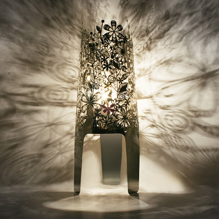 Shadow Lamps lamp efflorescent in silver