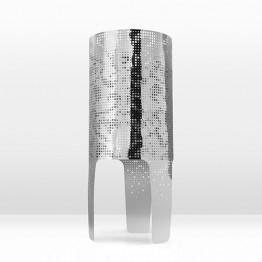 Shadow Lamp Wallpaper in Silver