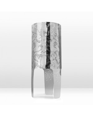 Shadow Lamp Wallpaper in Silver