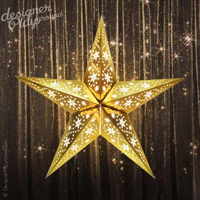 Paper Star Gleamy Night In Silver Lantern
