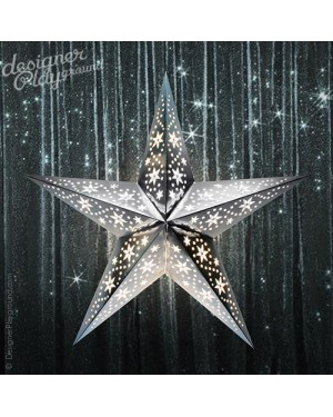 Paper Star Gleamy Night in Silver