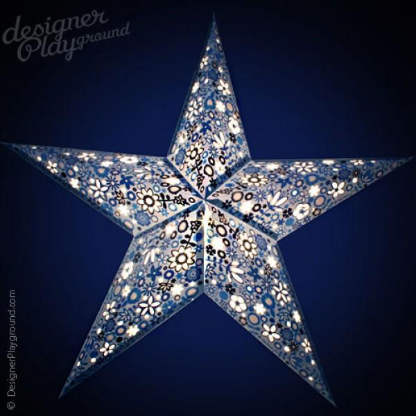 Paper Star Blue Garden