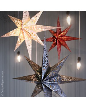 Paper Star Magical Night set of 3 - All Colors