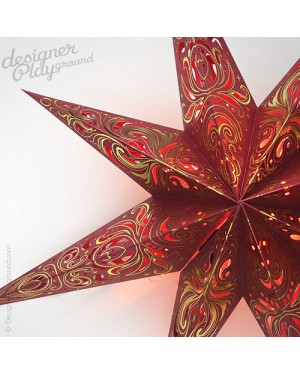 Paper Star Magical Night Red