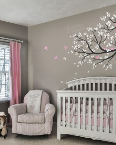 Natural Nursery Tree With Birds