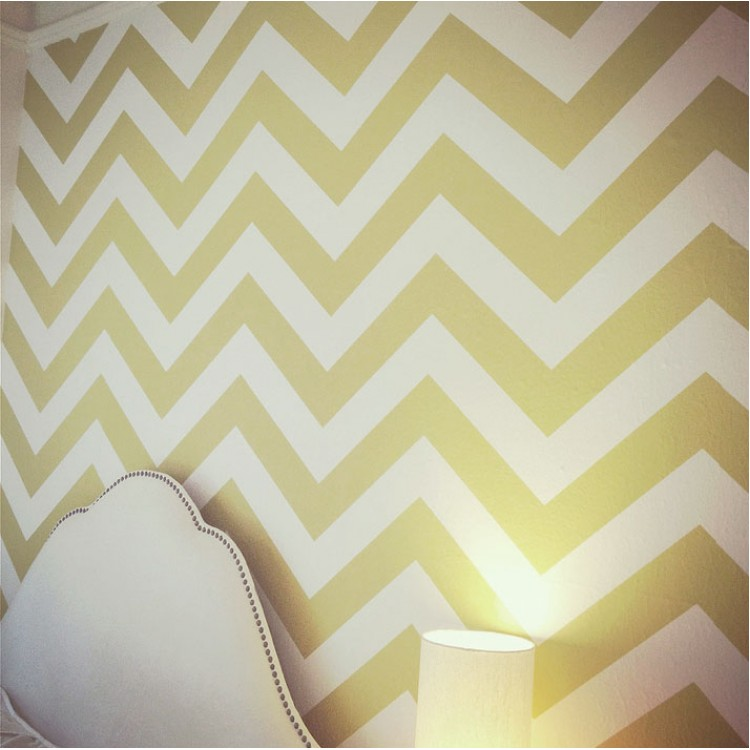 chevron template for walls - affordable chevron pattern wall decal
