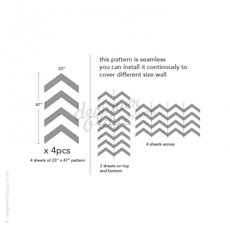 chevron pattern wall decal yellow and grey chevron wall sticker by admin cp49789583