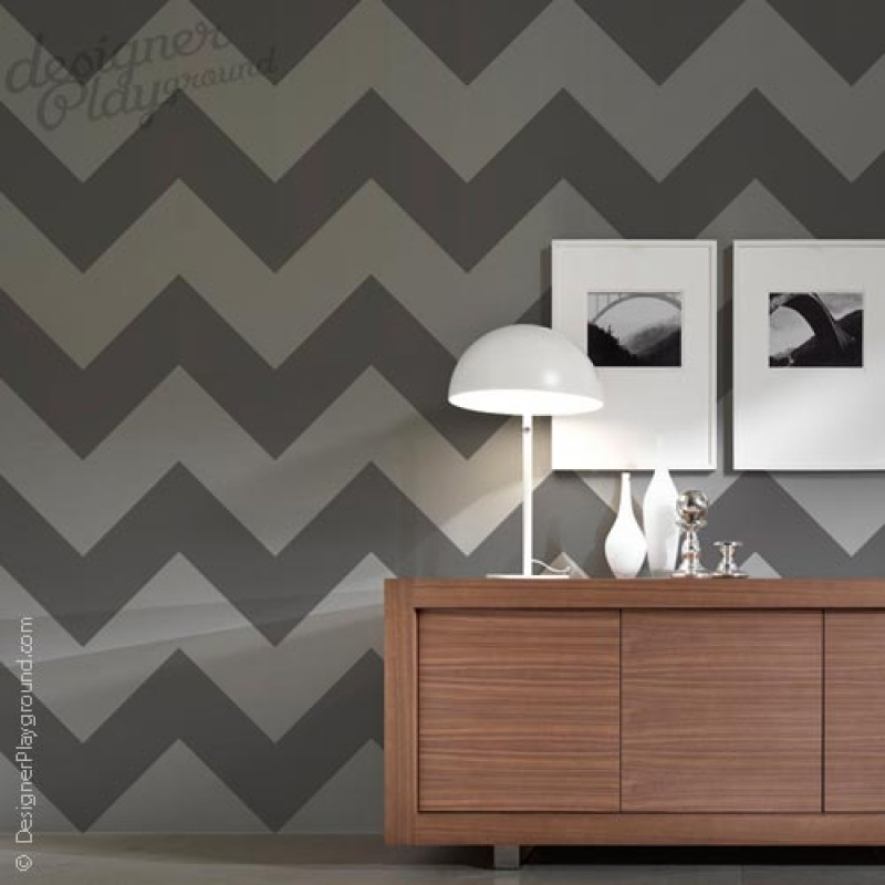 Chevron big pattern wall decal for Chevron template for walls