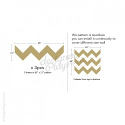 Chevron BIG Pattern Wall Decal