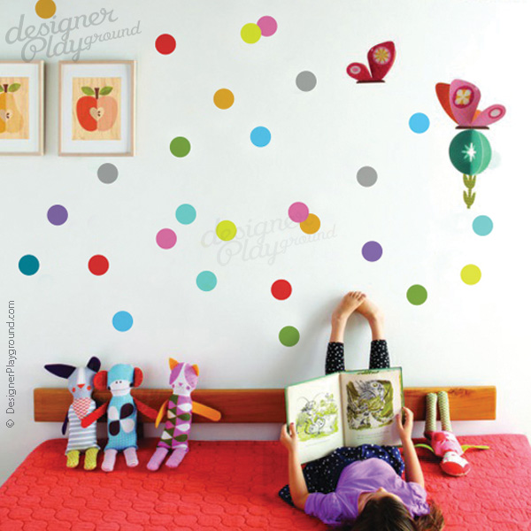Colorful Polka Dots Wall Decal
