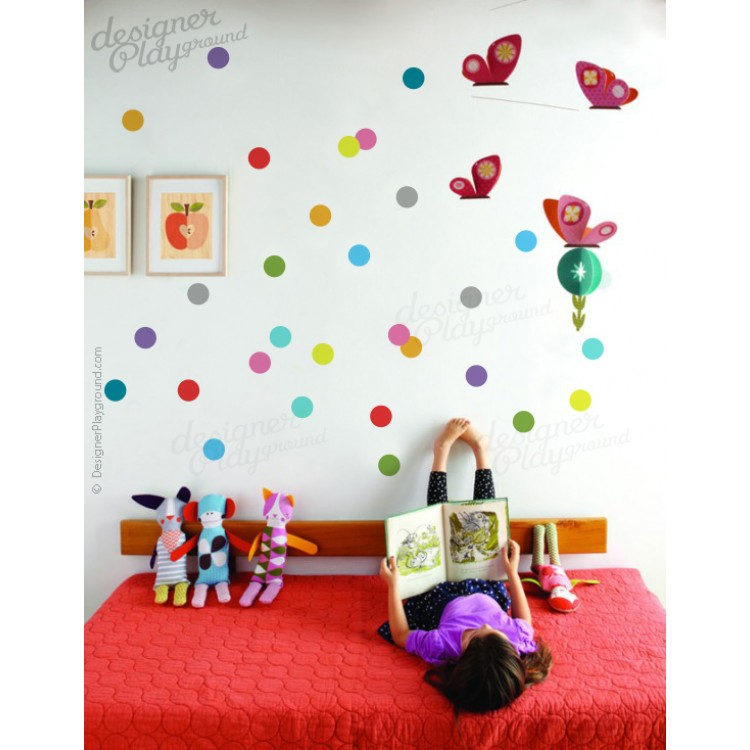 colorful polka dots wall decal polka dot wall decals amp wall stickers zazzle