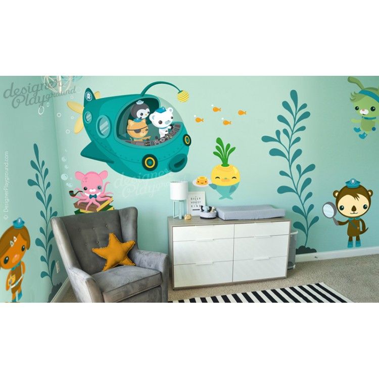 captain barnacles wall decal sticker for nursery and playroom octonauts stickers ebay
