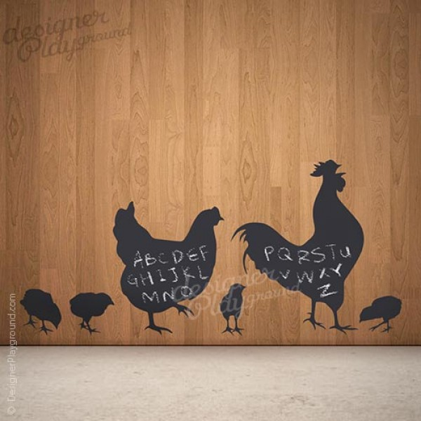 Chicken Family Silhouette