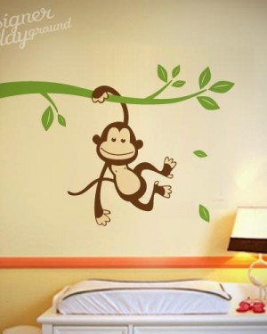 Monkey Hanging on Branch