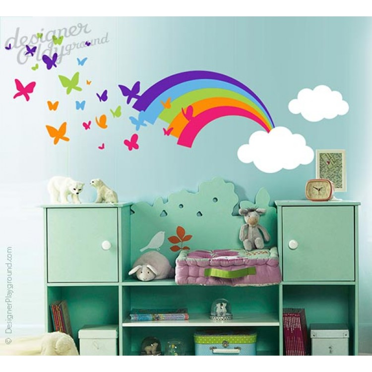 Wall Art Stickers Rainbow : Rainbow wall decal roselawnlutheran