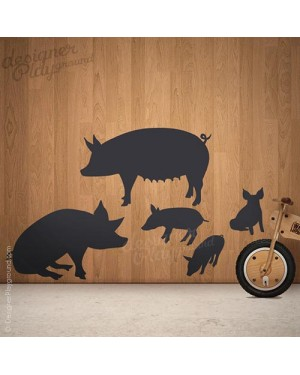 Pig Family Silhouette
