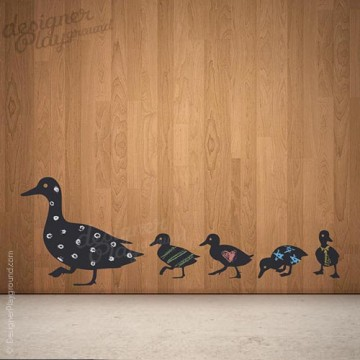 Duck & Duckling Silhouette