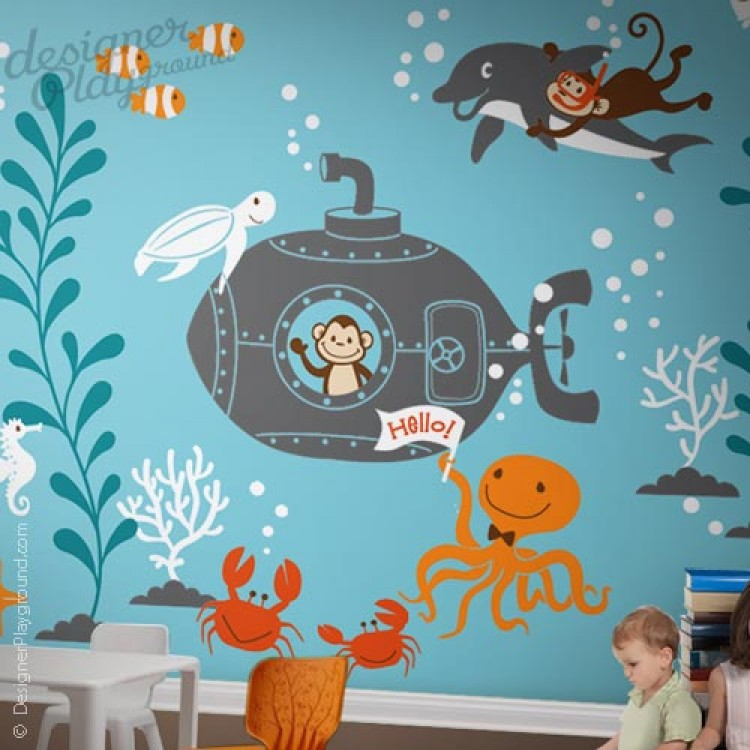 the great underwater world midnight zone octonauts bedroom wall mural ideas