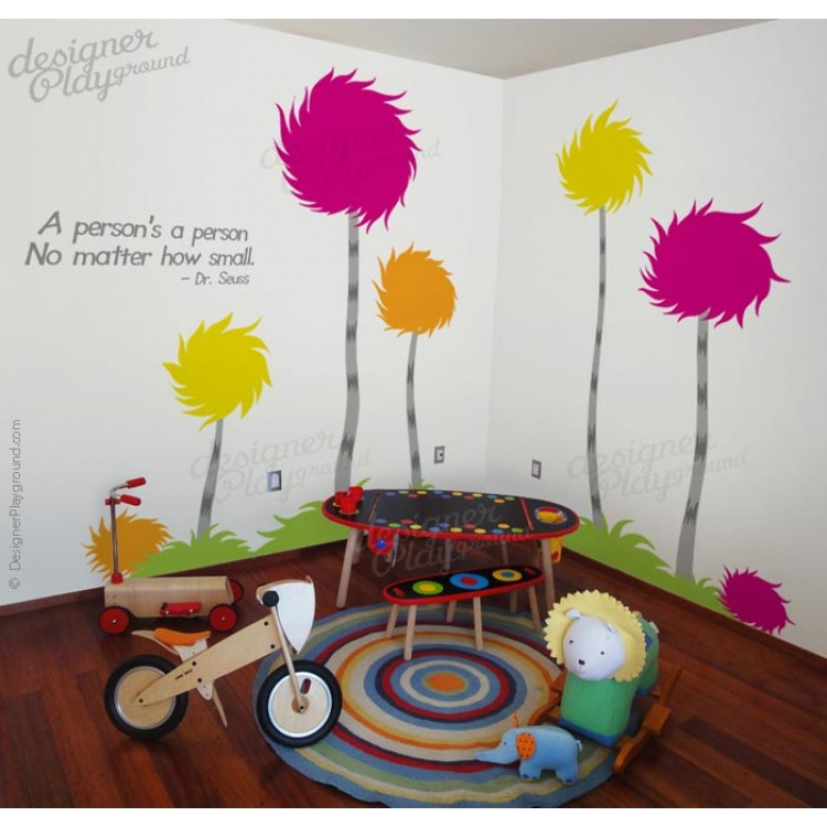 dr seuss truffle trees wall decal dr seuss wall decals nursery dr seuss vinyl wall art