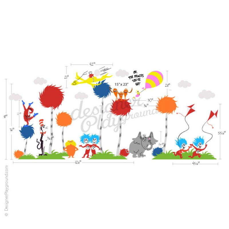 Dr Seuss Truffle Trees Wall Decal