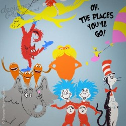 Barbaloot Bears Playing Dr Seuss Character