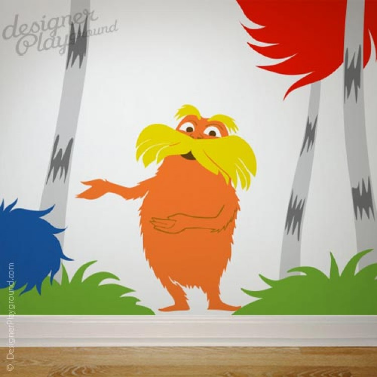 Sam with green eggs ham dr seuss character for Dr seuss wall mural decals