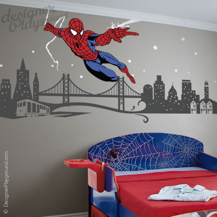 Spiderman Wall Decal Roselawnlutheran - Superhero vinyl wall decals