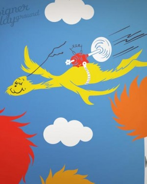 Flying guy Dr Seuss