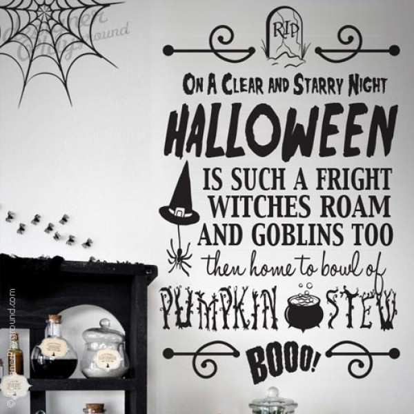 Halloween Quote - On A Clear and Starry Night