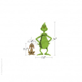 Grinch and Max Dr Seuss Character