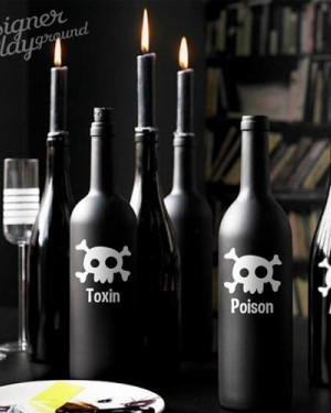 Toxic, Poison, Acid Bottle Labels for Halloween
