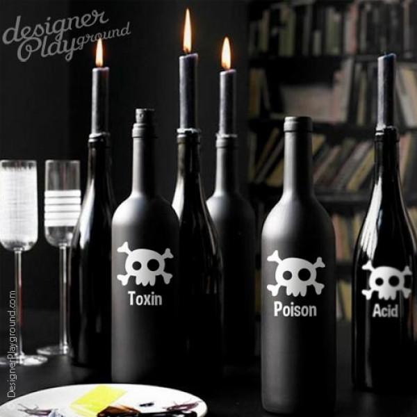 Toxic, Poison, Acid Bottle Labels for Halloween