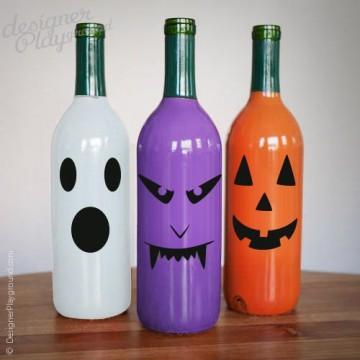 Eerie Faces sticker for Halloween decor