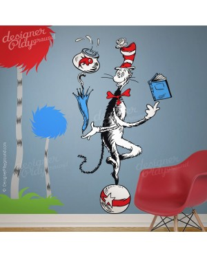 Cat in The Hat Juggling on a Ball Dr Seuss Character
