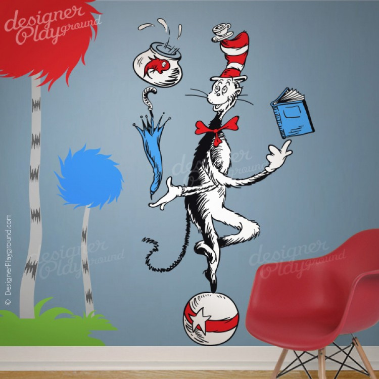 Cat In The Hat Juggling On A Ball Dr Seuss Character Part 3
