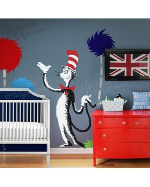 Cat In The Hat Holding Tail