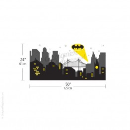 Gotham City Night Scene with Batman Light