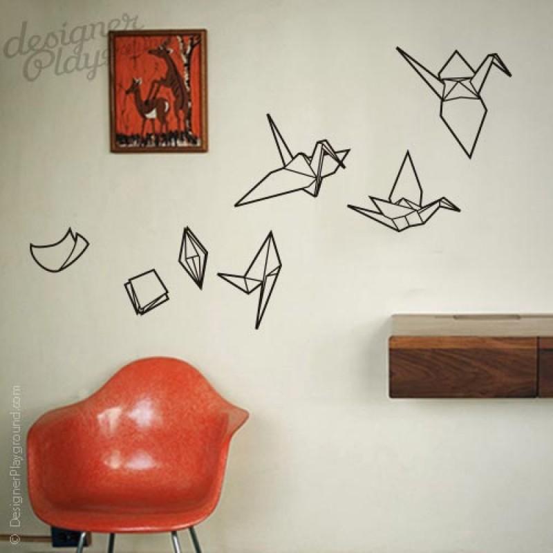 Evolving Origami Cranes Wall Decals