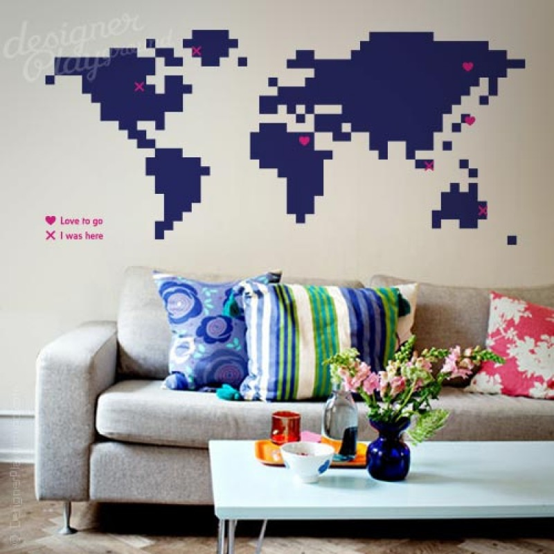 Pixelated world map decal pixelated world map gumiabroncs Images
