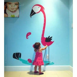 Flamingo Growth Chart Decal