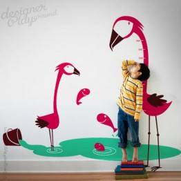 Flamingo Growth Chart Decal