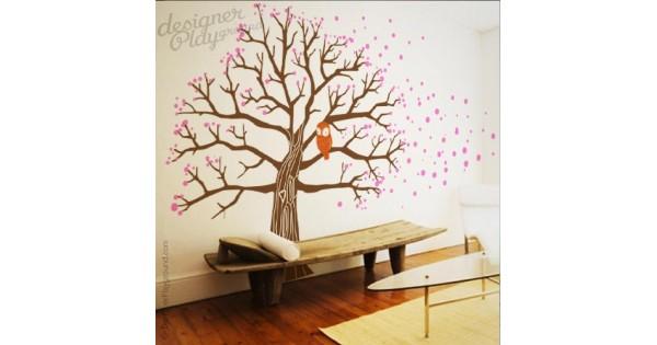 sc 1 st  Designer Playground & Owl on Blossom Tree Wall Decal
