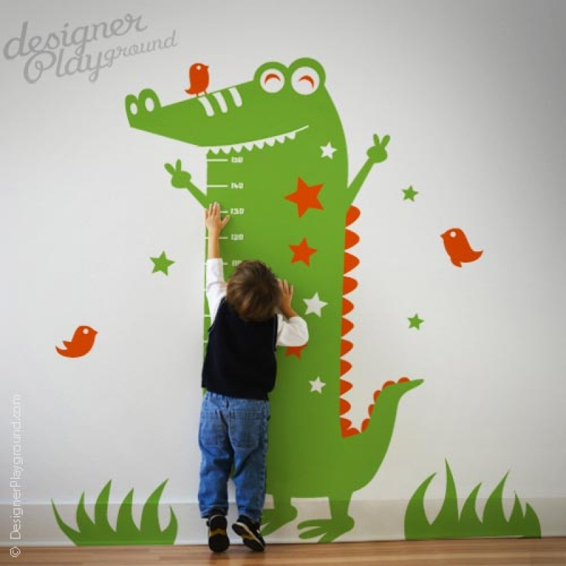 Alligator Growth Chart Wall Decal