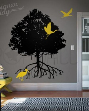 Mangrove tree and Storks