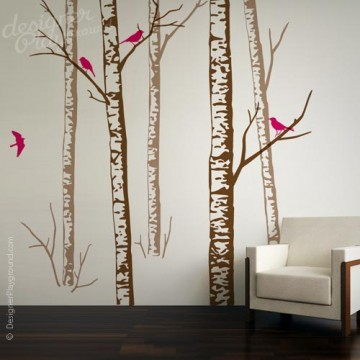 Realistic Birch Forest Tree