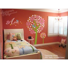 Colorful Tree with Name for Brooke Bedding
