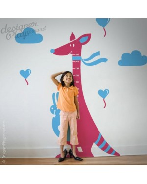 Kangaroo Growth Chart Decal