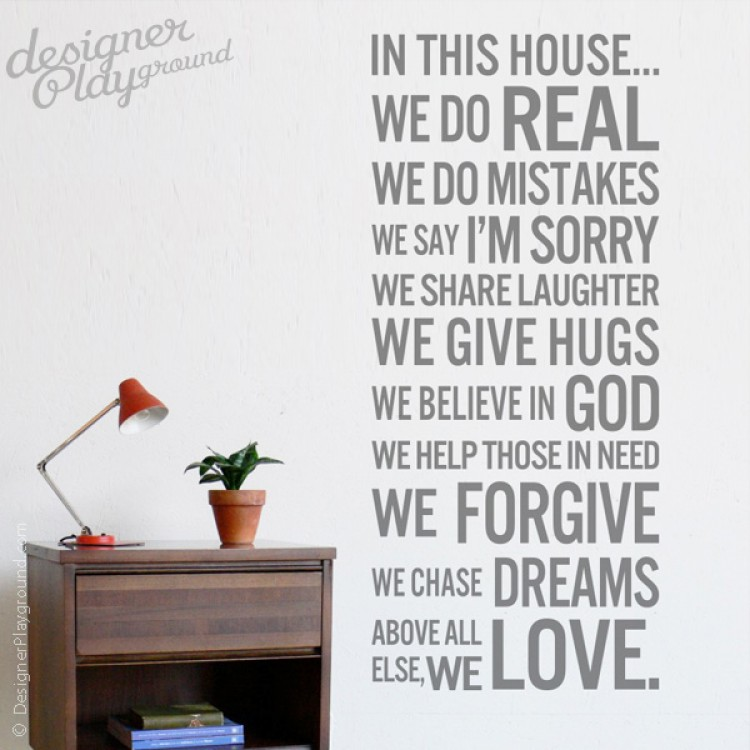 Rules In This House - House rules wall decals